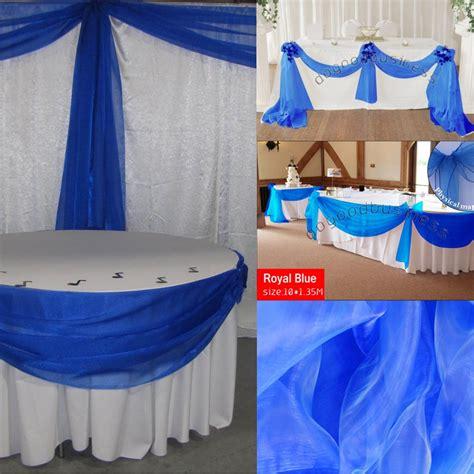 royal blue mm sheer organza swag fabric wedding