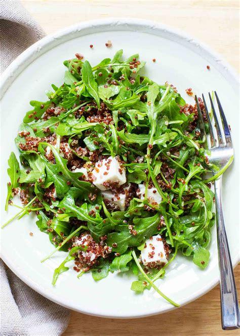 quinoa arugula  feta salad recipe simplyrecipescom