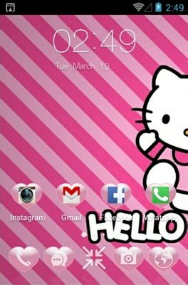 hello kitty themes clauncher kitty android theme for clauncher androidlooks com