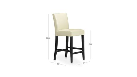 Crate And Barrel Leather Counter Stools by Lowe Ivory Leather Counter Stool Crate And Barrel