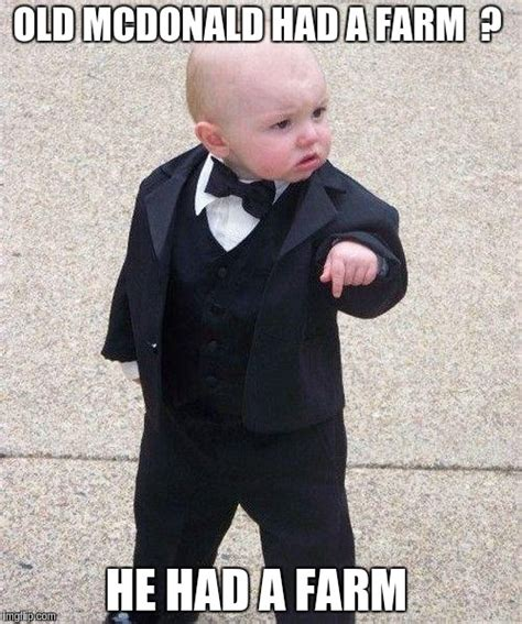 Baby Godfather Meme - godfather baby imgflip