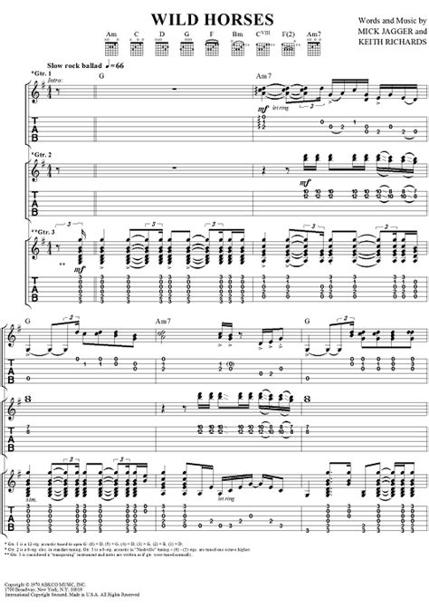 guitar tutorial wild horses wild horses sheet music music for piano and more