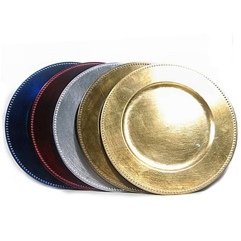 bed bath and beyond plates beaded charger plates set of 6 bed bath beyond