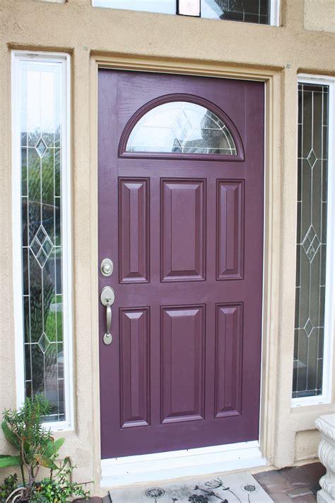 love  decorate plum front door
