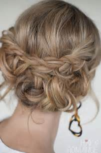 Braided updo quick amp easy messy braided updo hairstylesweekly com