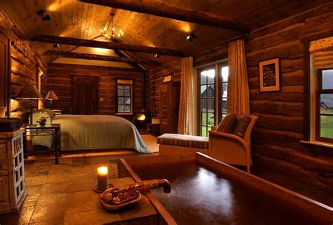 Wood Interior Homes luxuary log home bedroom 171 the log builders