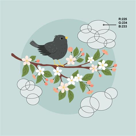 tutorial illustrator bird how to create an illustration of a starling on a branch in