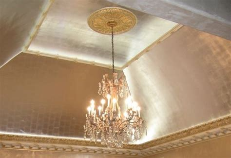 Silver Ceiling Paint by 25 Best Ideas About Gold Leaf On Gold Leaf