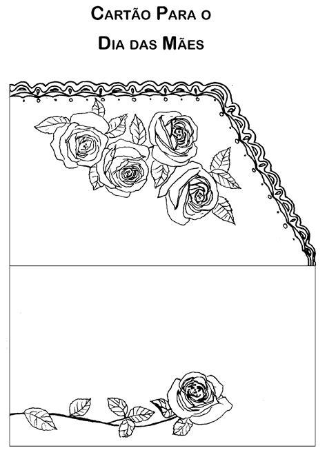 Modelo de cartão para o Dia das Mães - uma dobra - Só
