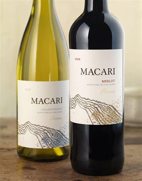 wine label design napa valley cf napa brand design macari vineyards wine packaging