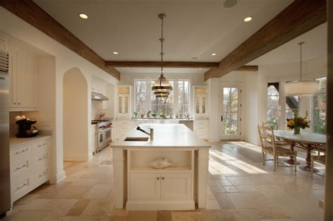 english country style white kitchen with modern wood base english country in northome traditional kitchen
