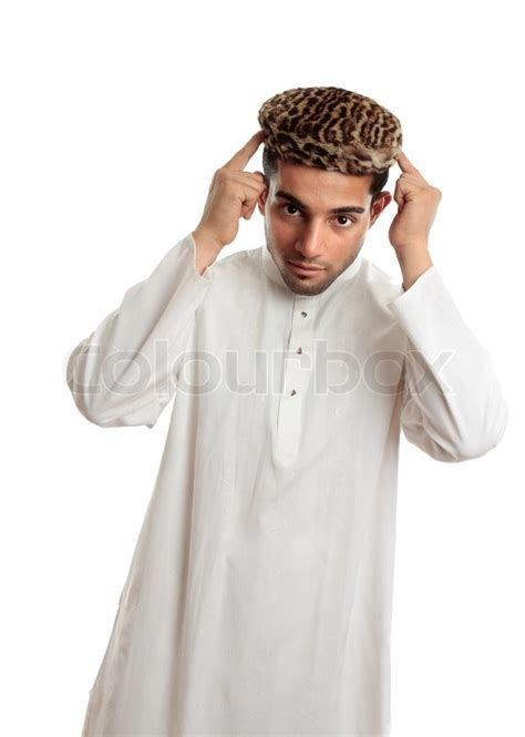 Topi Beard Vapingbest Fashion an ethnic in white embroidered robe and a leopard fur topi hat stock photo colourbox