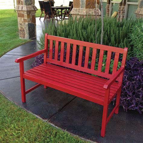 painted outdoor benches international caravan renoir 4 ft painted bench outdoor