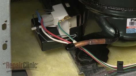 how to if refrigerator capacitor is bad whirlpool refrigerator run capacitor replacement 65889 4
