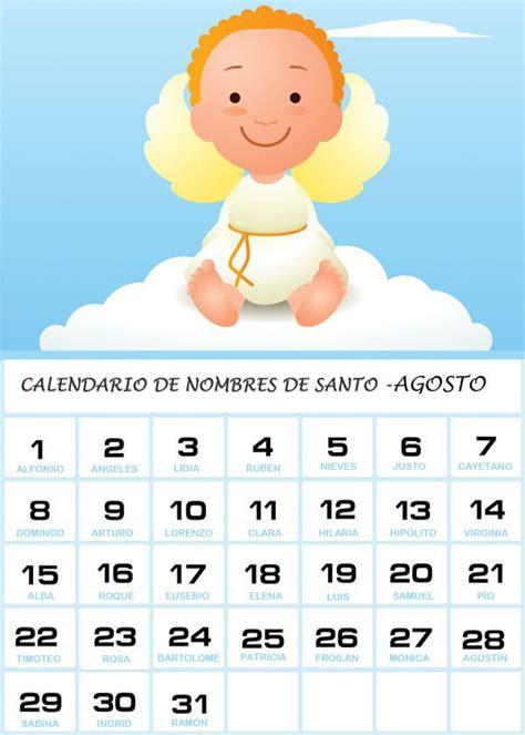 Calendario Mexicano Con Santos Calendario De Los Nombres De Santos De Agosto