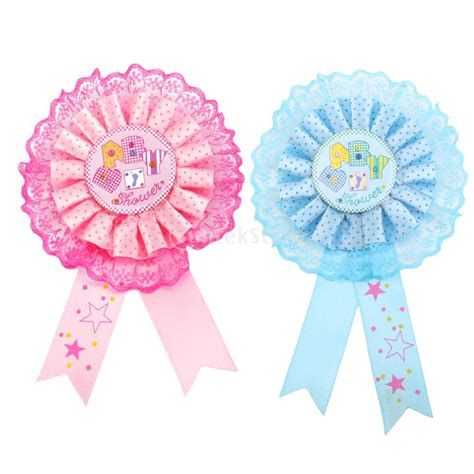 decorations free shipping spmart baby shower award ribbon badge favor