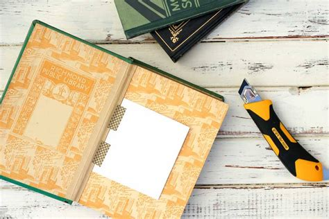 Open Book Template For Diy Card by Diy Gift Box Made From A Vintage Book Make Do Crew
