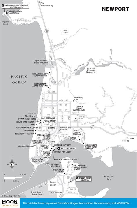 map of oregon newport travel maps of oregon moon travel guides