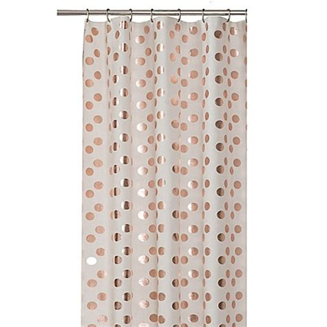 single stall shower curtain dazzle shower curtain in rose gold bed bath beyond