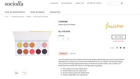 Luxcrime Golden Ultra Palette wishlist hip and happening local brands pink and undecided