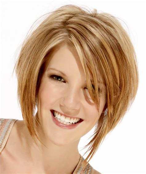 bob haircuts for round faces back and front medium straight formal bob hairstyle medium blonde golden