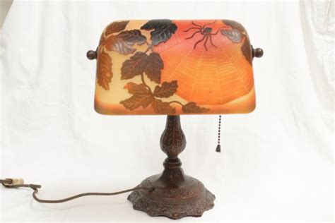 galle glass l shade cameo glass shade bronze l signed galle