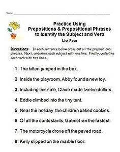 subject and verb identification easy mastery these