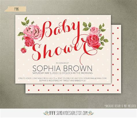 rose themed cards red rose baby shower invitation card diy printable party