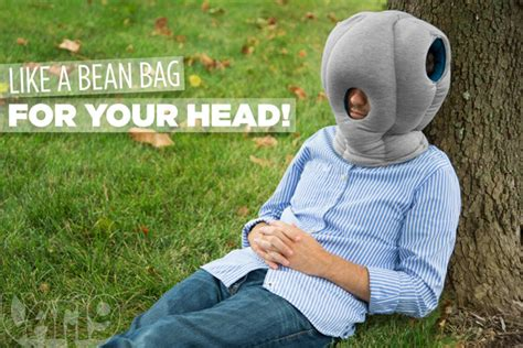 Pillow Helmet by The Ostrich Pillow Nap Anywhere Anytime