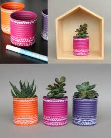 recycler des boites de conserve en pots de fleurs id 233 e