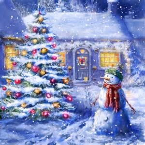 Cute Christmas Scenes Wallpaper Winter Christmas » Ideas Home Design