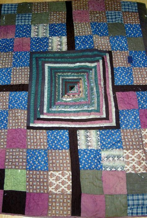 quilt history reports log cabin setting