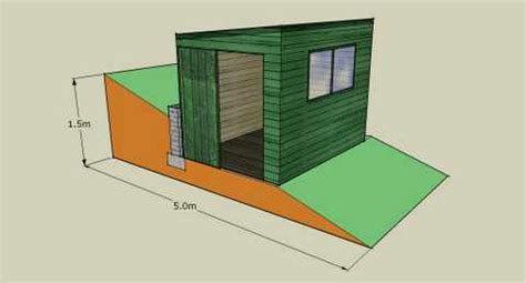 How To Level Ground For A Shed by Obsy Foundations On A Slope Diy Observatories
