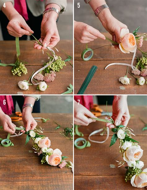 How To Make A Flower Crown Out Of Paper - diy flower crown green wedding shoes weddings