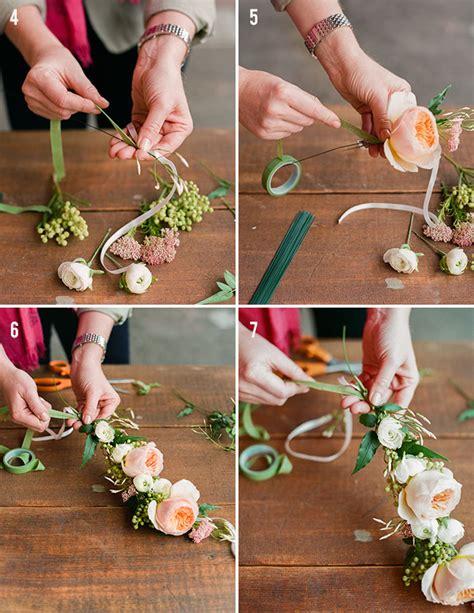 diy spring flower crown green wedding shoes weddings