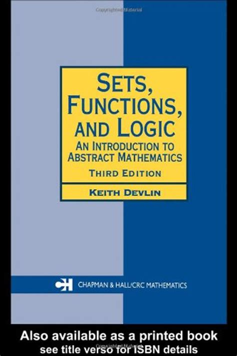 logic a introduction introductions books sets functions and logic introduction to abstract