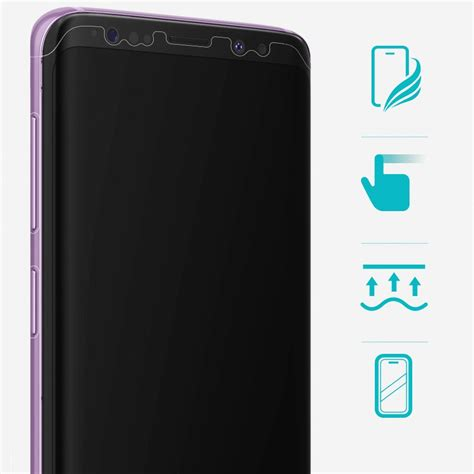 Ringke Screen Protector Invisible Defender Fully Cover Fo 2008 2 ringke invisible defender 3x tpu coverage screen protector for samsung galaxy s9 ifsg0014