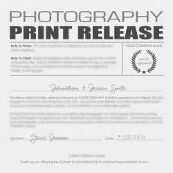 Release Letter For Photography Photography Copyright Release Form For Printing