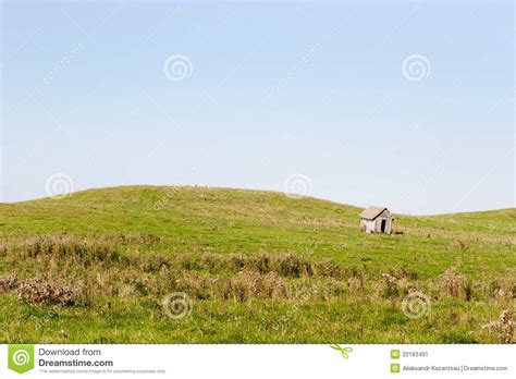 Cottage In The Meadow wooden cottage in the meadow stock image image 22183491