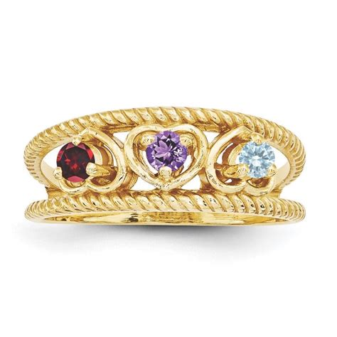 14k gold 1 to 4 stones s ring