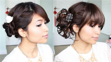 Everyday Hairstyles Bebexo | everyday hair bun to elegant prom updo hairstyle bebexo