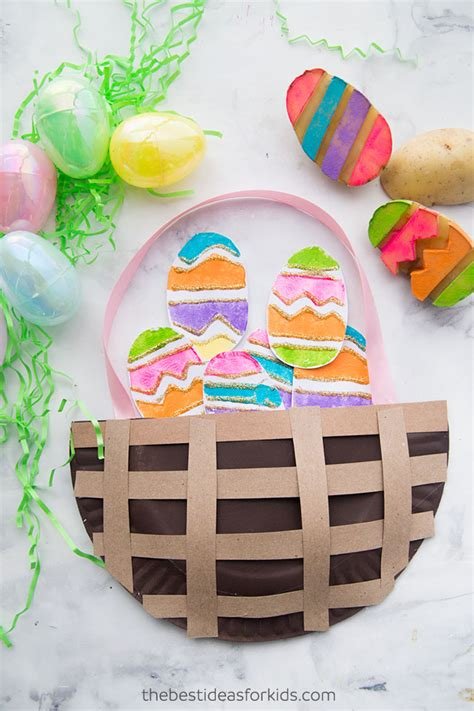 Easter Baskets With Paper Plates - easter paper plate basket the best ideas for