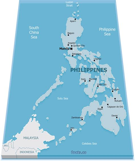 physical map of philippines philippines map blank political philippines map with cities