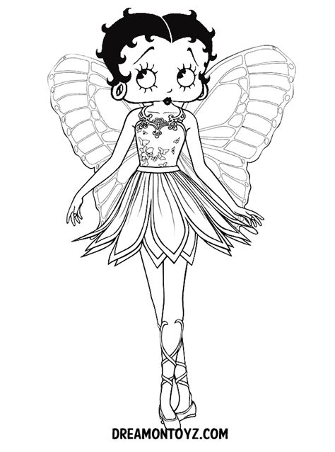 drawing betty boop coloring pages coloring pages