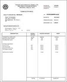 invoice price for new cars invoice price car printable invoice template