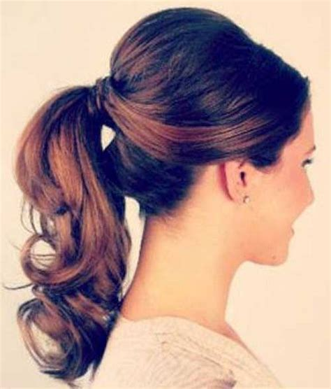 ponytail haircut where to position ponytail elegant ponytail hairstyle with wavy ends beautiful
