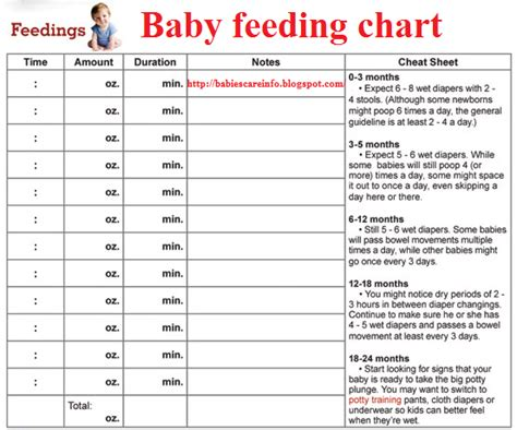 baby feeding schedule template twins