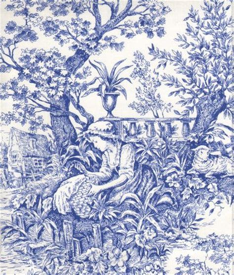 french pattern blue and white french court a navy blue white toile fabrics designs