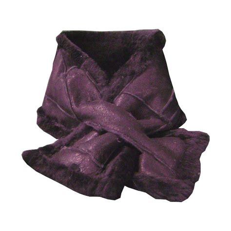 black sheepskin scarf