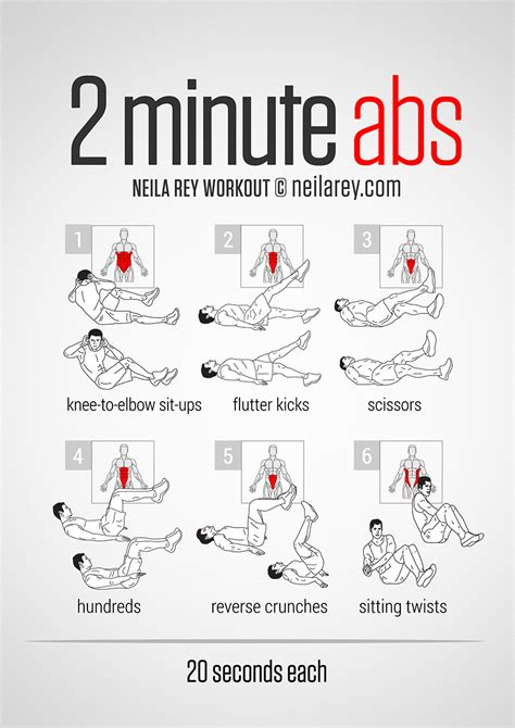 2 minute abs workout exercises and